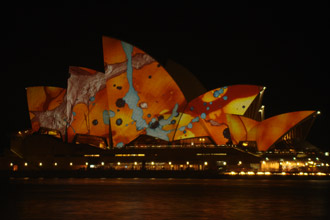 Sydney in colour, Brian Eno's Luminous Festival - feature photo