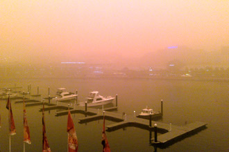 Sydney Dust Storm – Darling Harbour photo