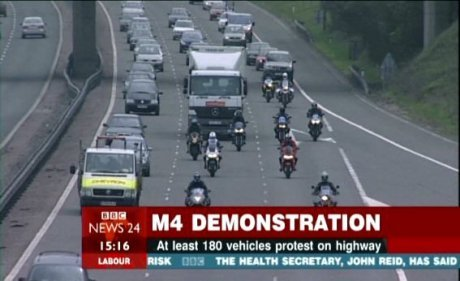 M4 Protest in Wiltshire
